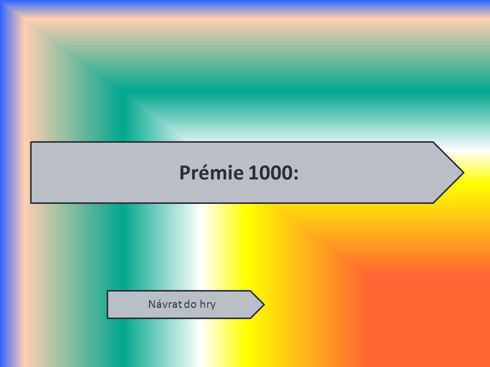Návrat do hry Prémie 1000: