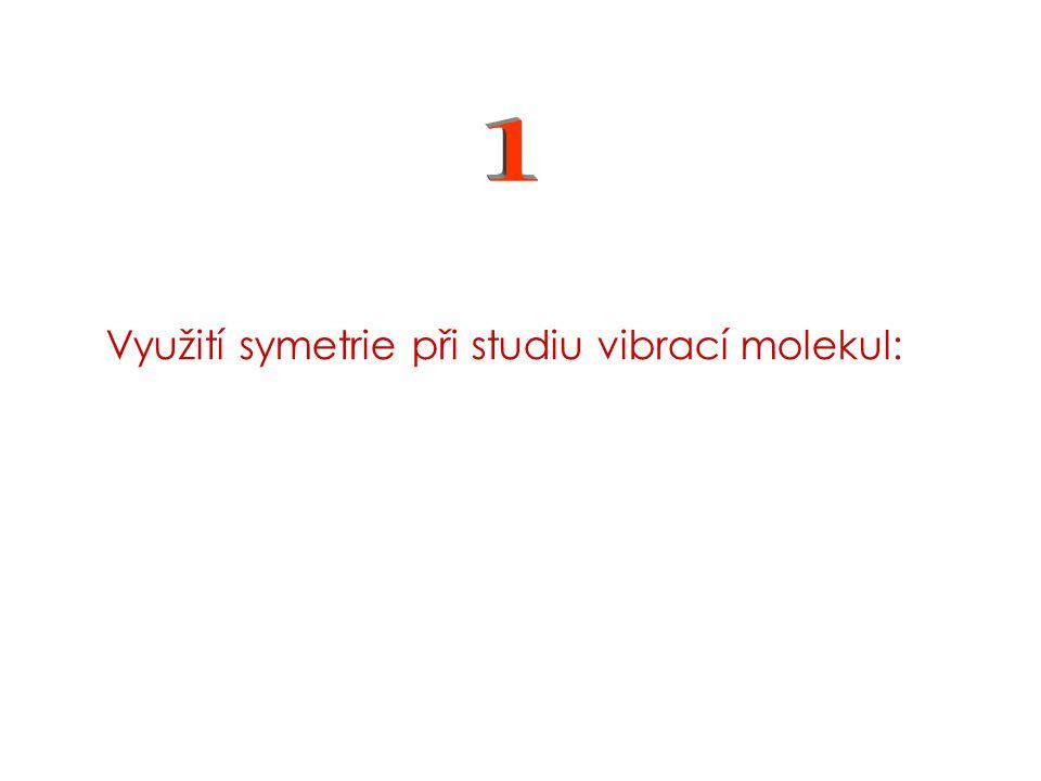 Využití symetrie při studiu vibrací molekul:
