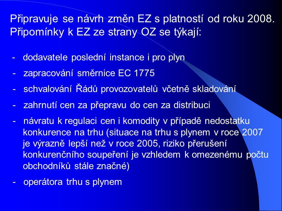 Připravuje se návrh změn EZ s platností od roku 2008.