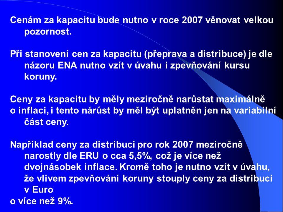 Cenám za kapacitu bude nutno v roce 2007 věnovat velkou pozornost.