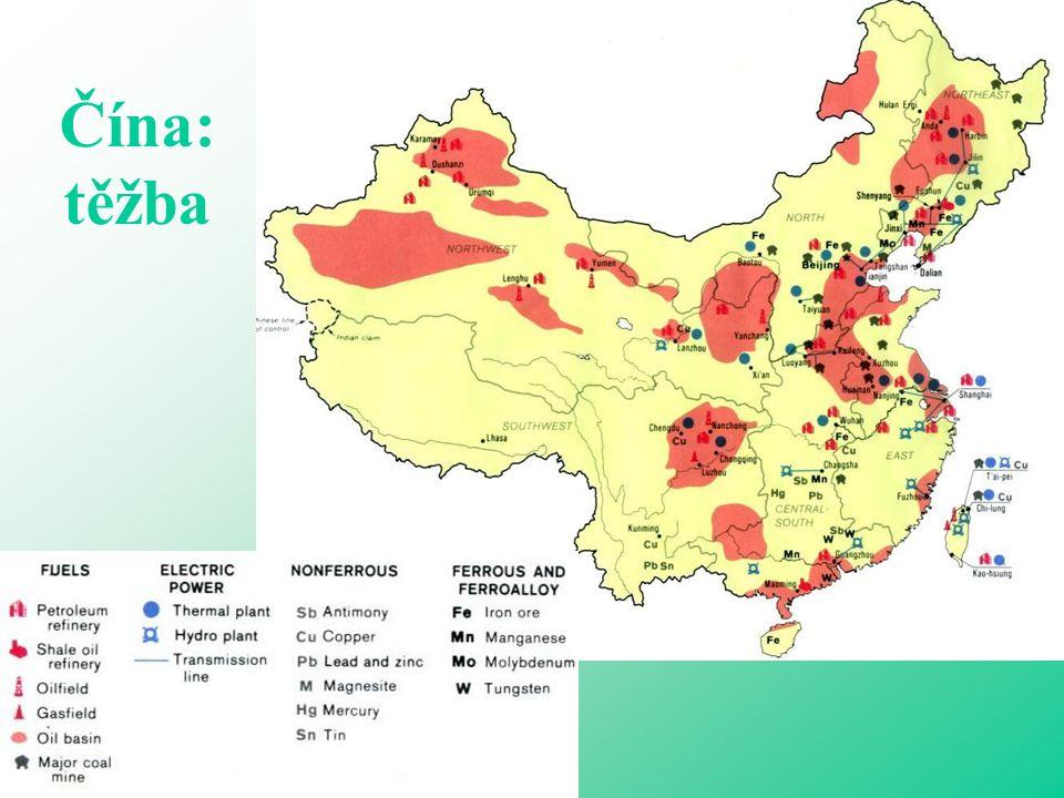 Čína: těžba