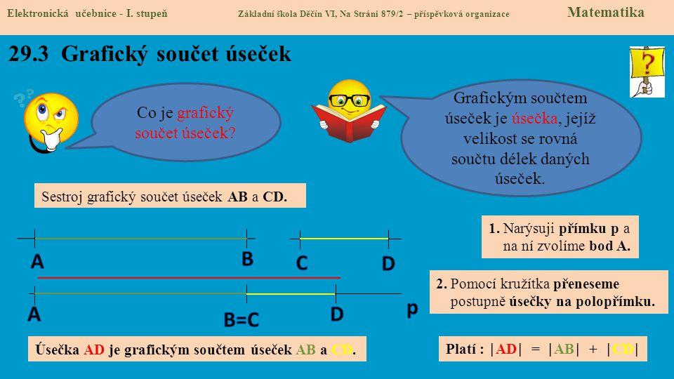 29.3 Grafický součet úseček Elektronická učebnice - I.