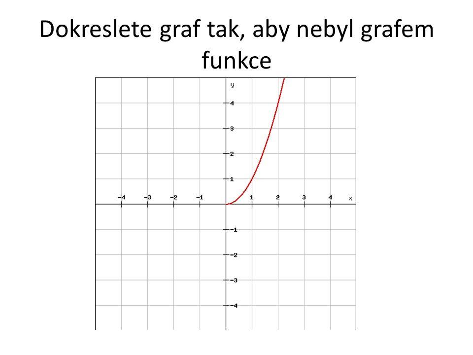 Dokreslete graf tak, aby nebyl grafem funkce