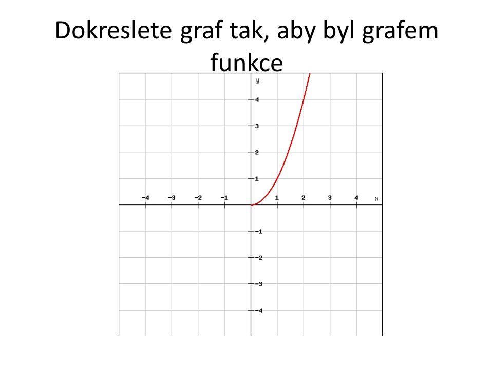 Dokreslete graf tak, aby byl grafem funkce