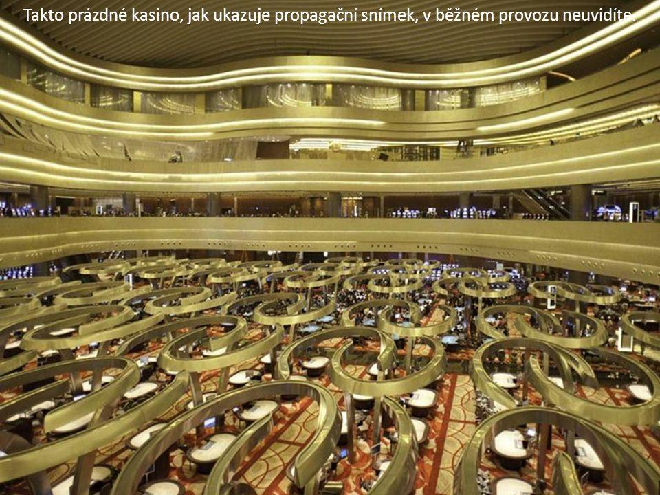 Takto prázdné kasino, jak ukazuje propagační snímek, v běžném provozu neuvidíte.