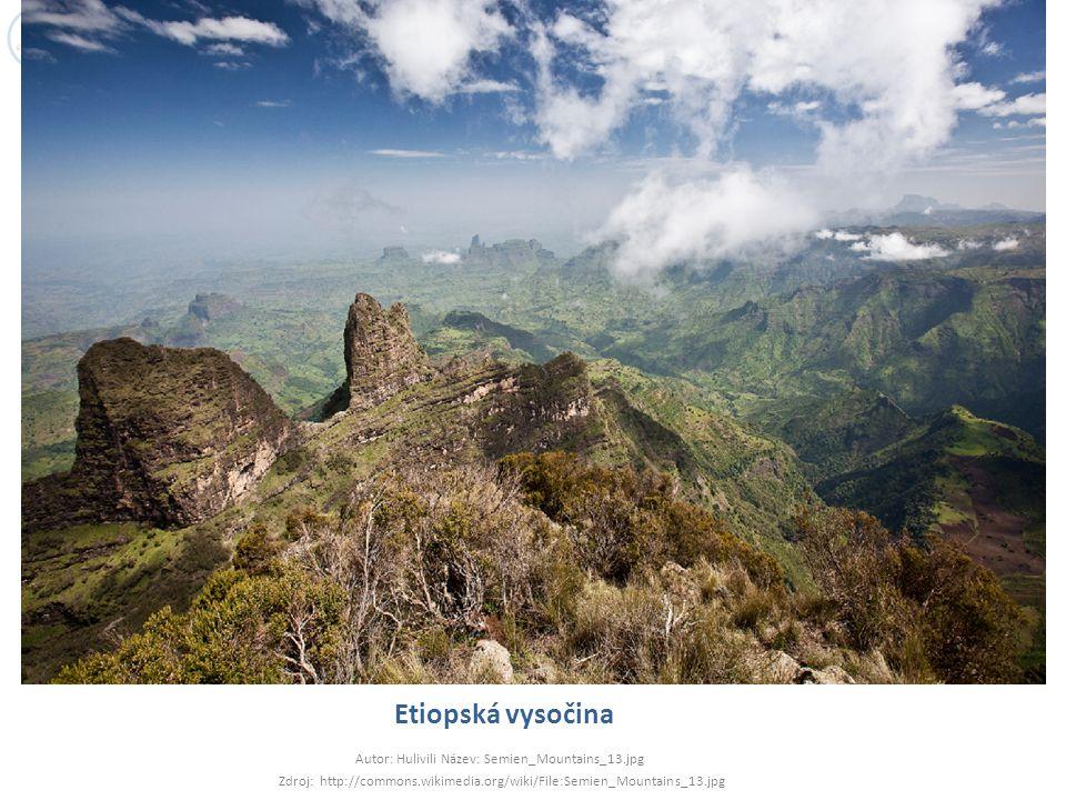 Etiopská vysočina Autor: Hulivili Název: Semien_Mountains_13.jpg Zdroj: http://commons.wikimedia.org/wiki/File:Semien_Mountains_13.jpg