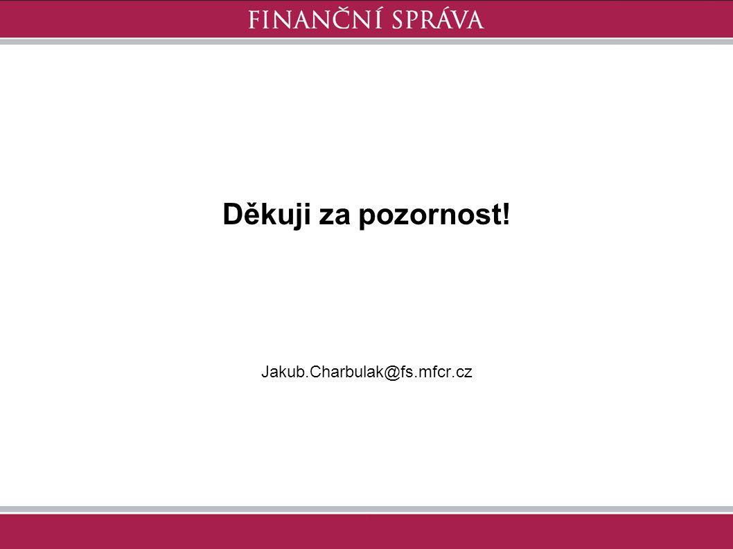 Děkuji za pozornost! Jakub.Charbulak@fs.mfcr.cz