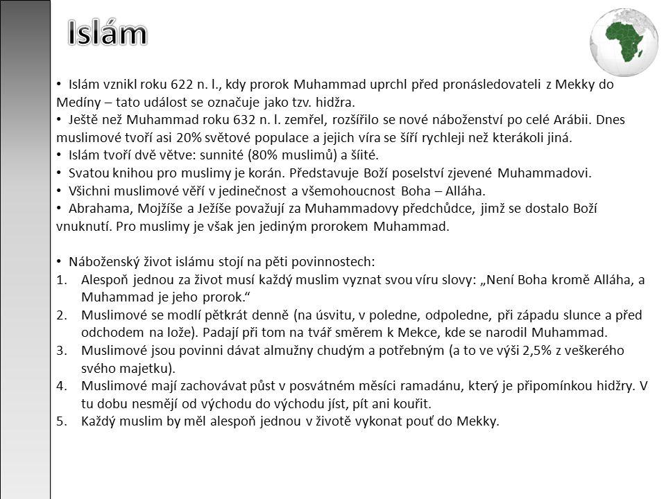 Islám vznikl roku 622 n.