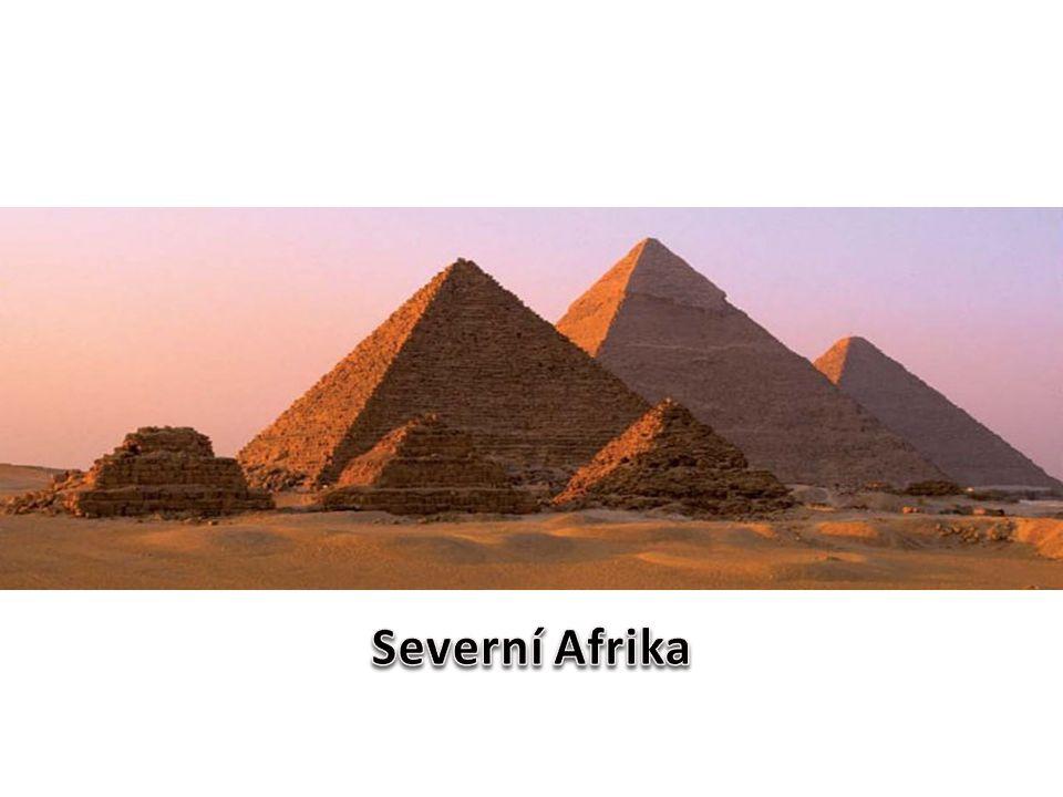 Severní Afrika se rozkládá od pobřeží Středozemního moře až po hranici 20°s.