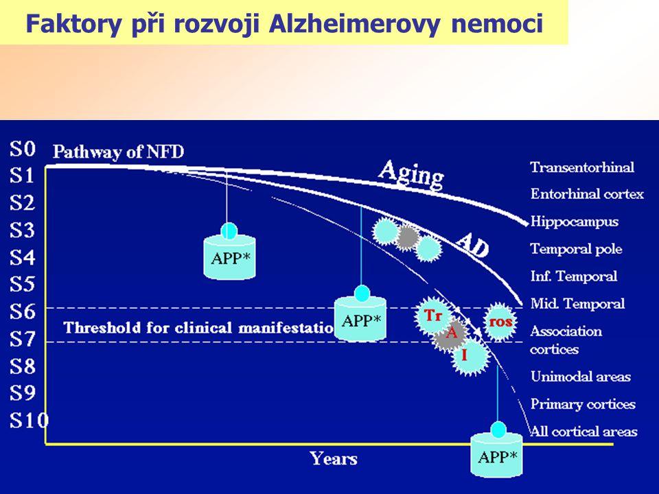 Faktory při rozvoji Alzheimerovy nemoci