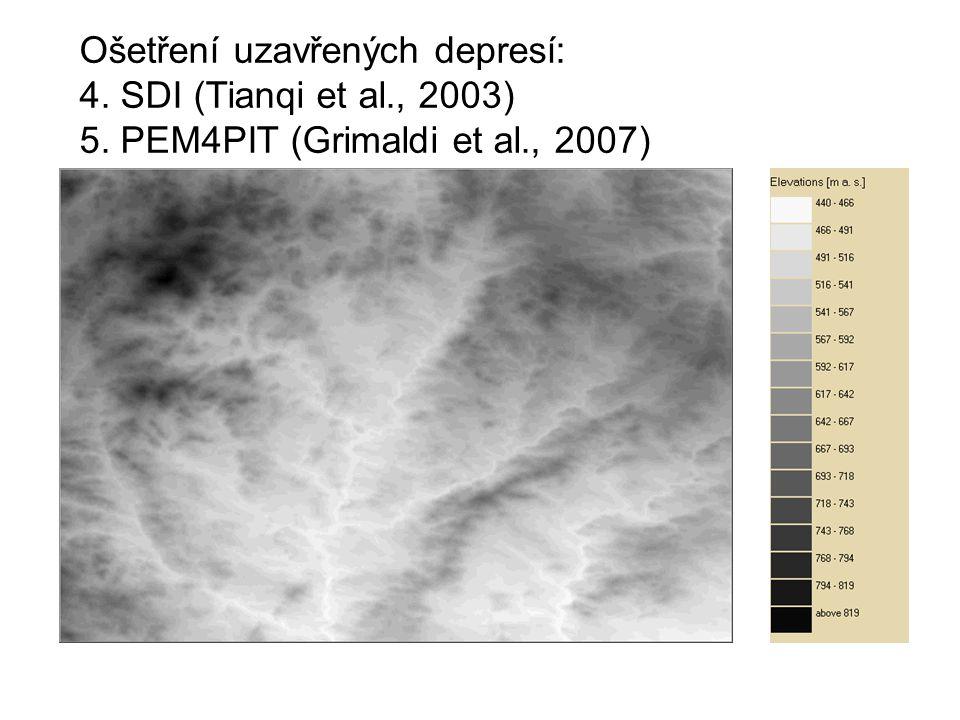 Ošetření uzavřených depresí: 4. SDI (Tianqi et al., 2003) 5. PEM4PIT (Grimaldi et al., 2007)