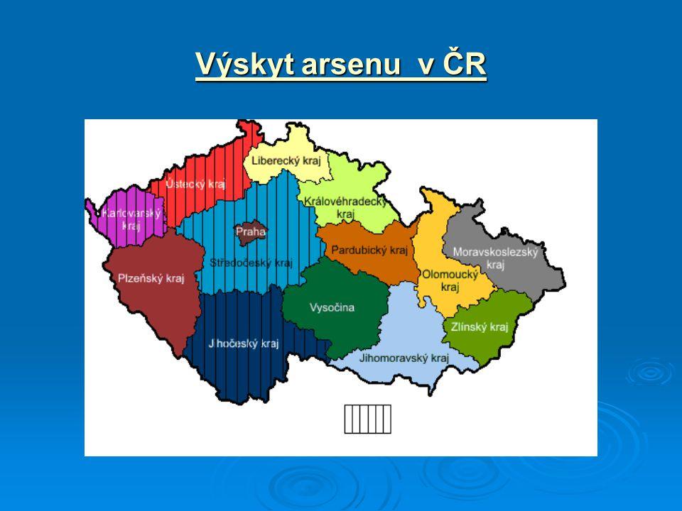 Výskyt arsenu v ČR