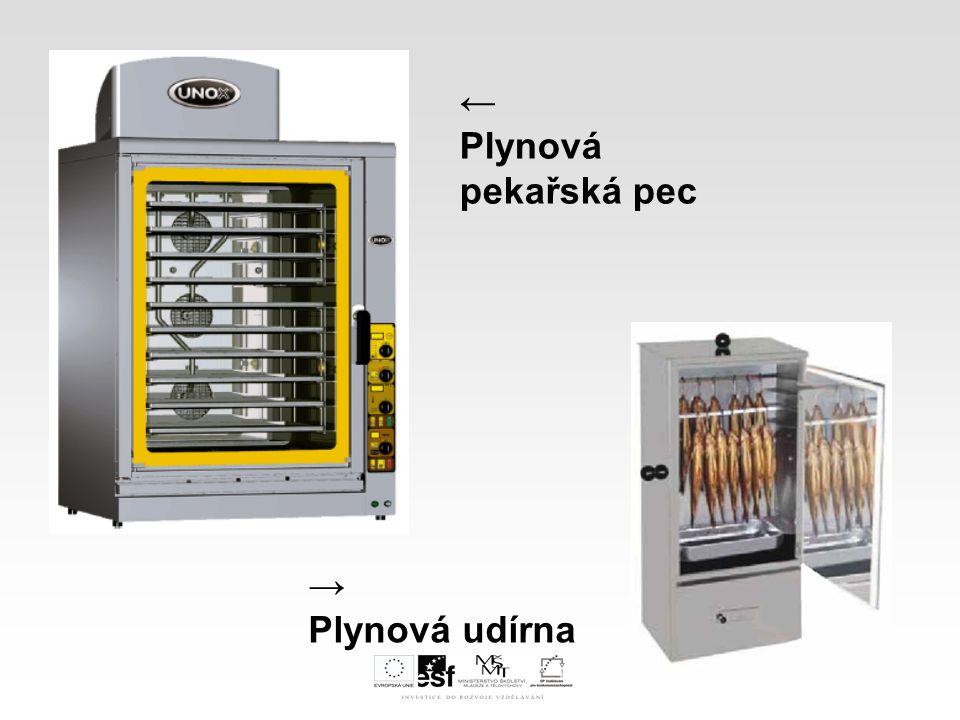 ← Plynová pekařská pec → Plynová udírna