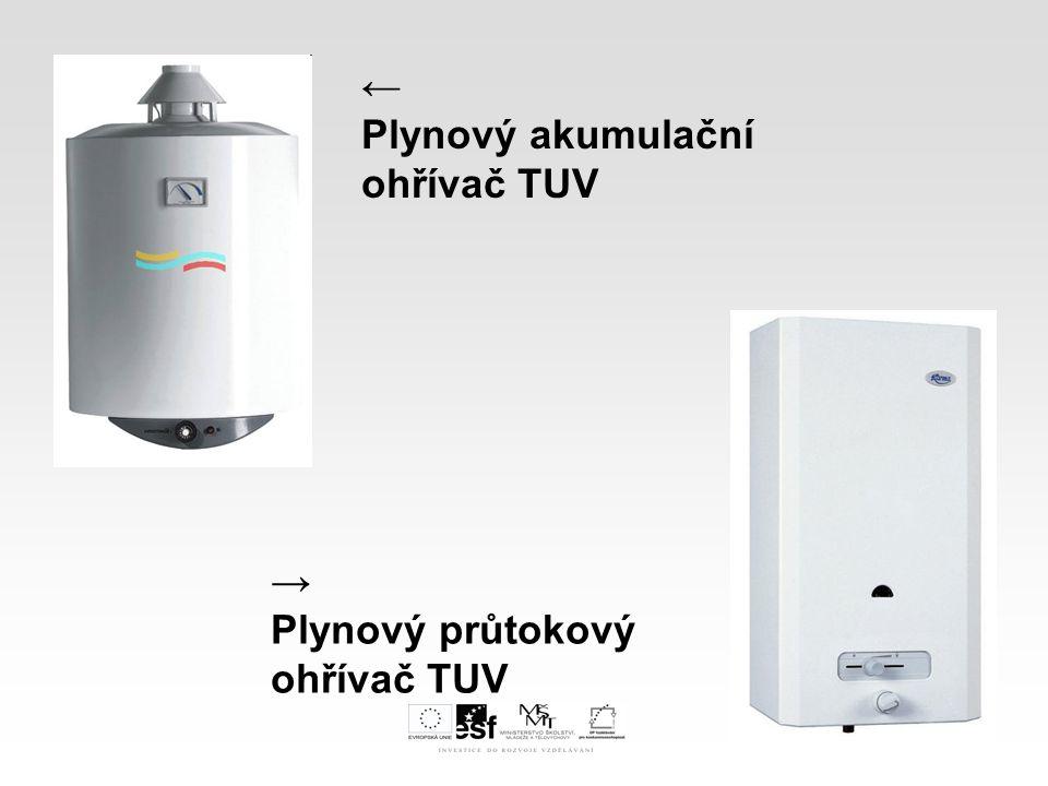 I.Druhy plynových spotřebičů E.