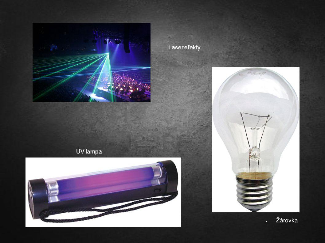 UV lampa ● Žárovka Laser efekty