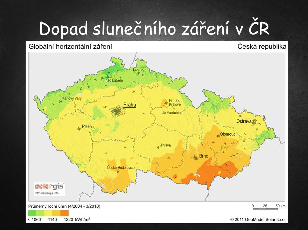 Dopad slunečního záření v ČR