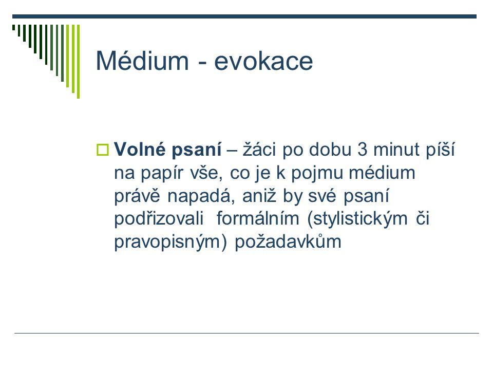 Použitá literatura  MIČIENKA, Marek a Jan JIRÁK.Základy mediální výchovy.