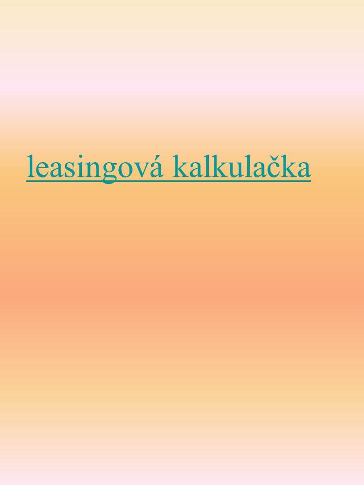 leasingová kalkulačka