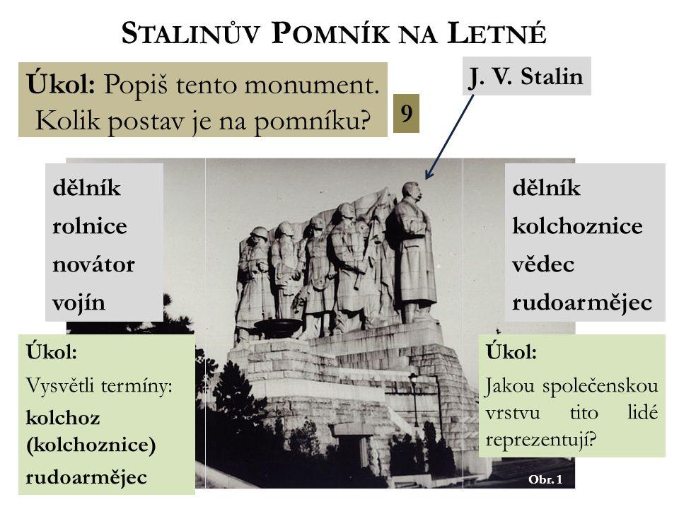 Obr. 1 S TALINŮV P OMNÍK NA L ETNÉ Úkol: Popiš tento monument.