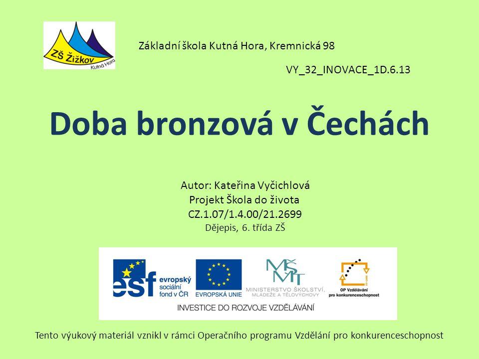 2 000 – 800 p.n.l.Čechy a Morava se stávají významným centrem střední Evropy.