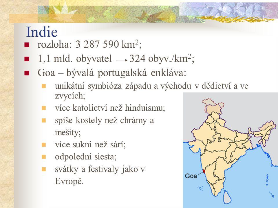 17 Indie rozloha: 3 287 590 km 2 ; 1,1 mld.