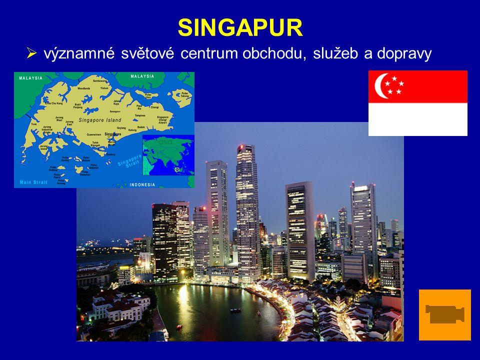 ZÁKLADNÍ ÚDAJESINGAPUR  významné světové centrum obchodu, služeb a dopravy