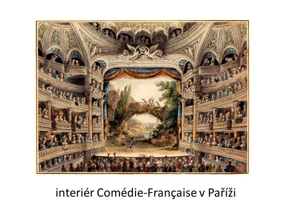 interiér Comédie-Française v Paříži