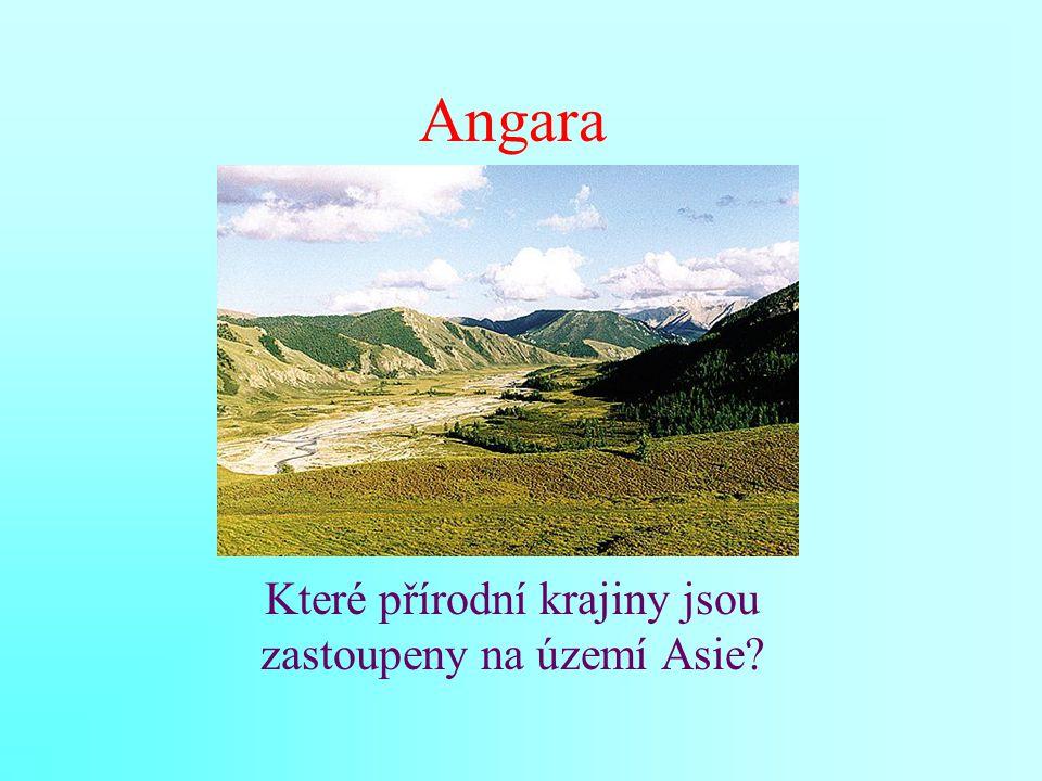 Angara Které přírodní krajiny jsou zastoupeny na území Asie?