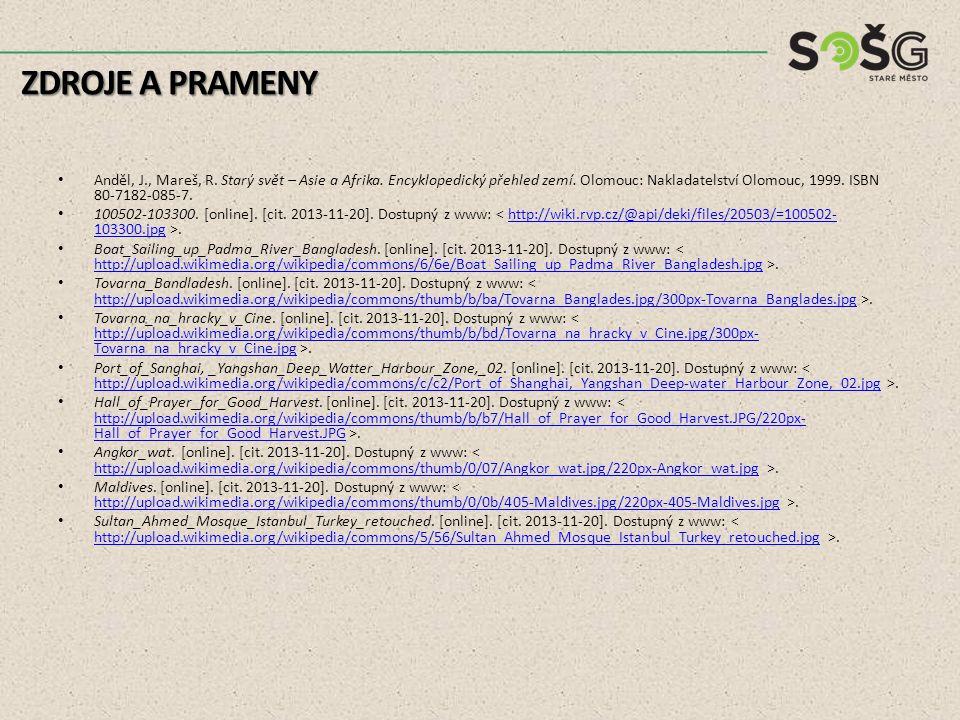 Anděl, J., Mareš, R. Starý svět – Asie a Afrika. Encyklopedický přehled zemí. Olomouc: Nakladatelství Olomouc, 1999. ISBN 80-7182-085-7. 100502-103300