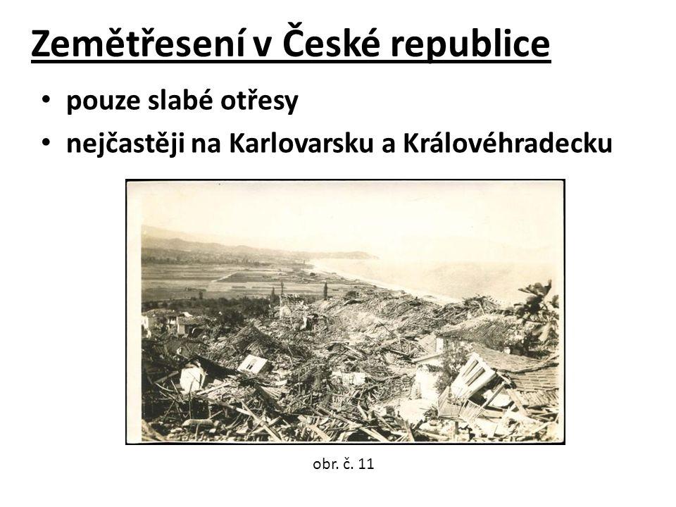 Zemětřesení v České republice pouze slabé otřesy nejčastěji na Karlovarsku a Královéhradecku obr.