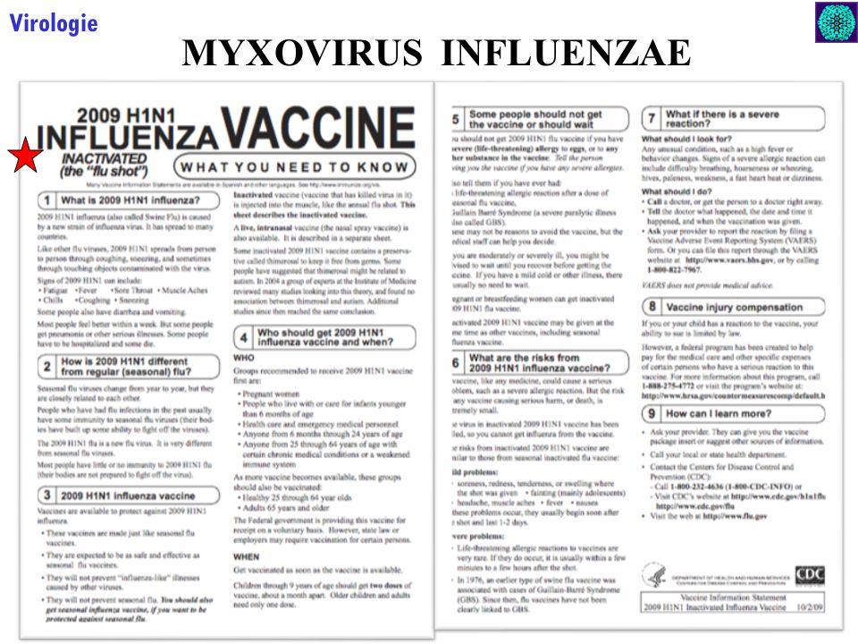23 Virologie MYXOVIRUS INFLUENZAE