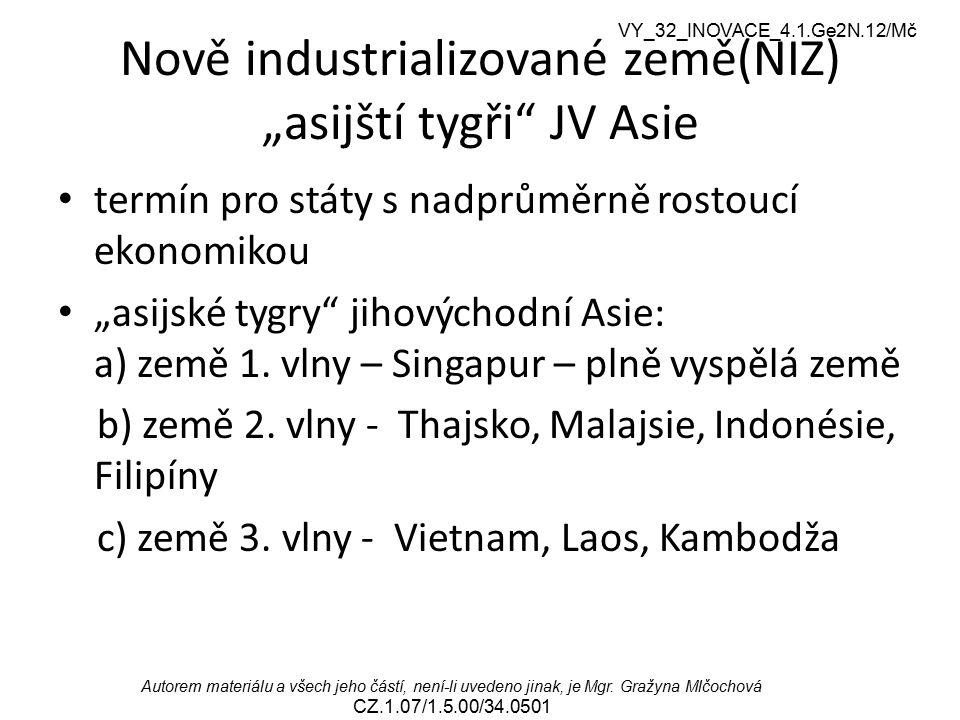 VY_32_INOVACE_4.1.Ge2N.12/Mč Autorem materiálu a všech jeho částí, není-li uvedeno jinak, je Mgr. Gražyna Mlčochová CZ.1.07/1.5.00/34.0501 Nově indust