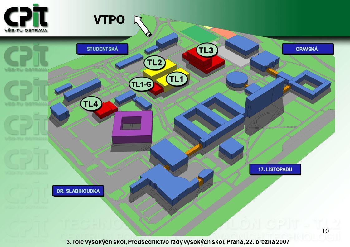 10 VTPO 3. role vysokých škol, Předsednictvo rady vysokých škol, Praha, 22. března 2007
