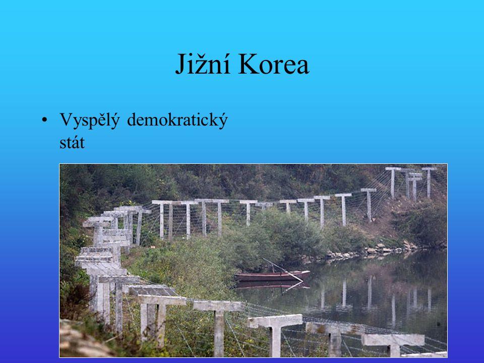 Jižní Korea Vyspělý demokratický stát