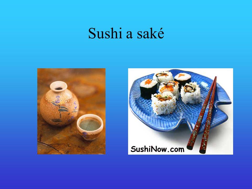Sushi a saké