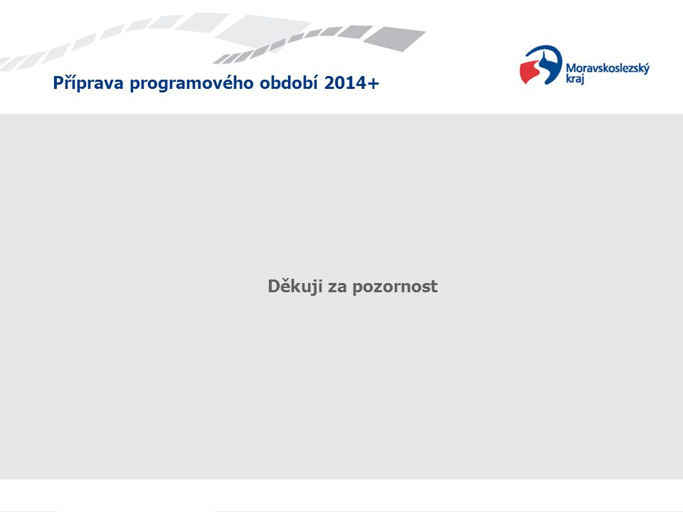 Příprava programového období 2014+ Děkuji za pozornost