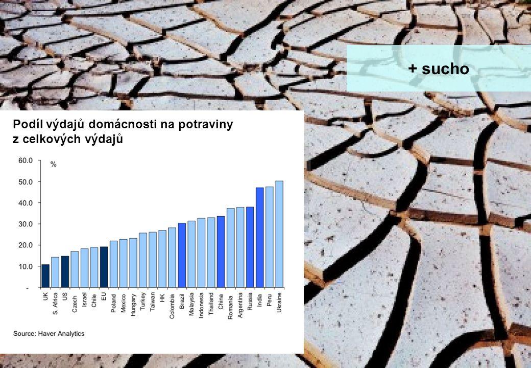stránka 15 Makro update - rok zajíce a jestřábích centrálních bank + sucho Podíl výdajů domácnosti na potraviny z celkových výdajů