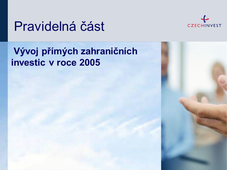 Vývoj PZI v roce 2005: Opět razantní růst