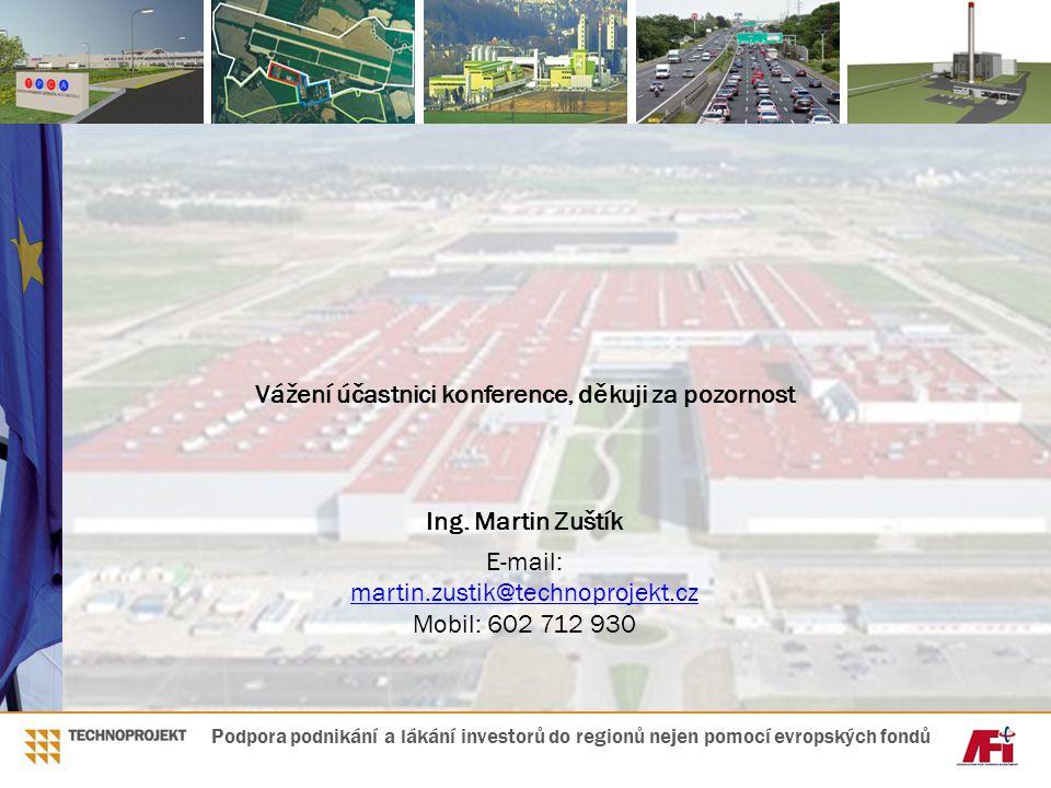 Vážení účastnici konference, děkuji za pozornost Ing. Martin Zuštík E-mail: martin.zustik@technoprojekt.cz martin.zustik@technoprojekt.cz Mobil: 602 7