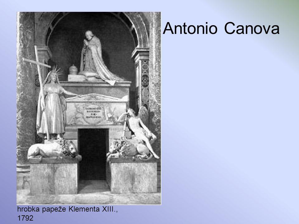 Antonio Canova hrobka papeže Klementa XIII., 1792