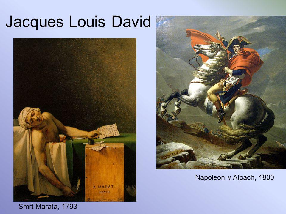 Jacques Louis David Smrt Marata, 1793 Napoleon v Alpách, 1800