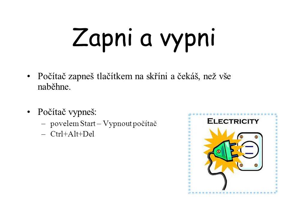 Myši Myš (bezdrátová, optická nebo s kuličkou) Snímá pohyb na podložce Zobrazuje se na obrazovce : »Šipkou – ukazuje »Svislou čárkou – označuje aktuální místo v textu »Přesýpací hodiny – něco se děje »Ruka - otevírá se hypertextový odkaz »Šipka na 2 strany – mění velikost okna »Šipka na 4 strany - posouvá okno