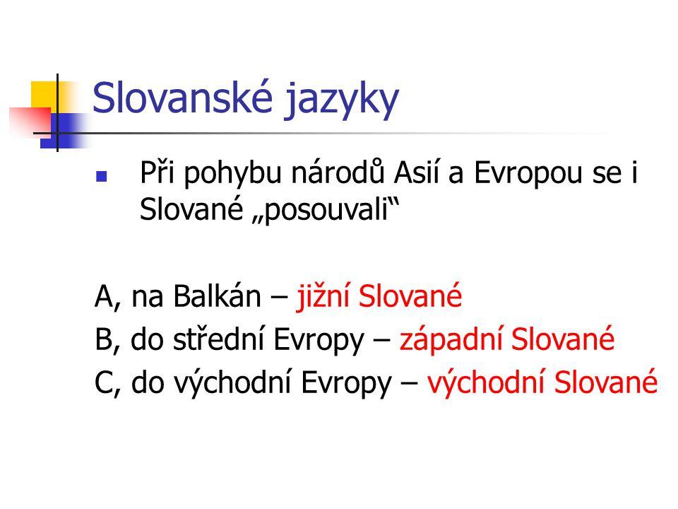 Slované v Evropě Obr. 1