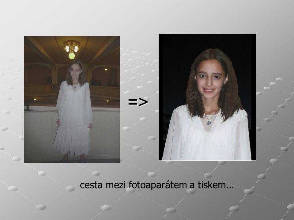 => cesta mezi fotoaparátem a tiskem…