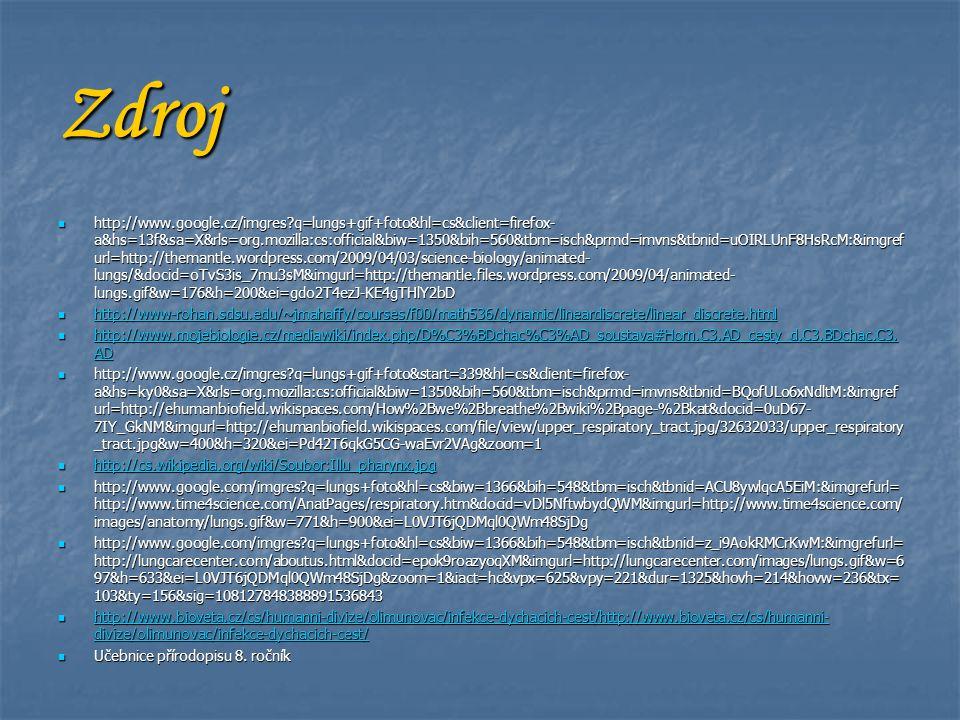 Zdroj http://www.google.cz/imgres?q=lungs+gif+foto&hl=cs&client=firefox- a&hs=13f&sa=X&rls=org.mozilla:cs:official&biw=1350&bih=560&tbm=isch&prmd=imvn