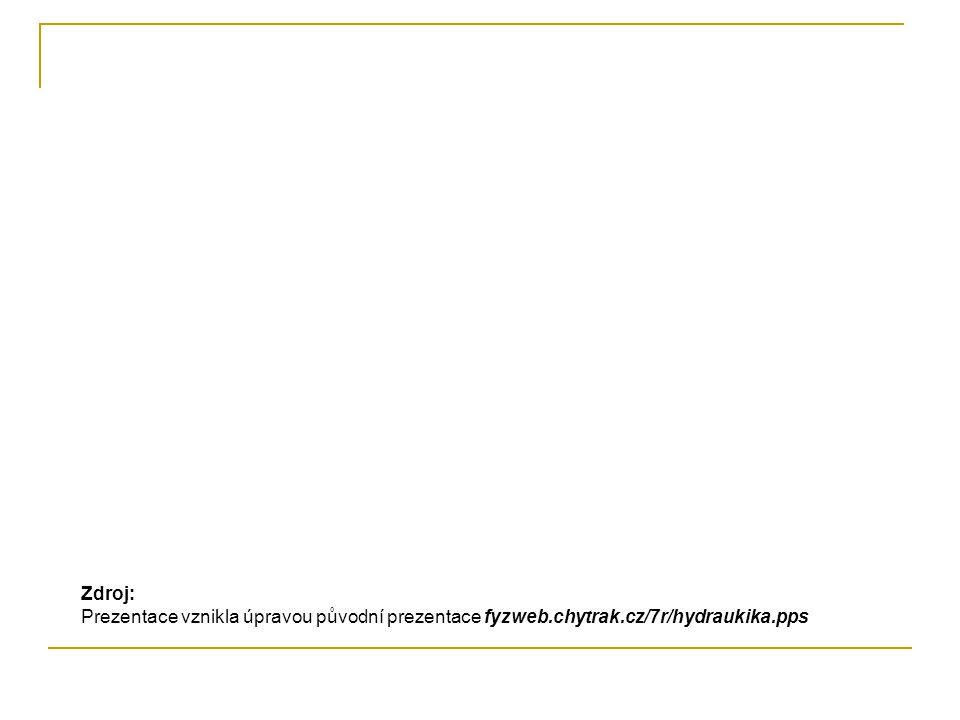 Zdroj: Prezentace vznikla úpravou původní prezentace fyzweb.chytrak.cz/7r/hydraukika.pps