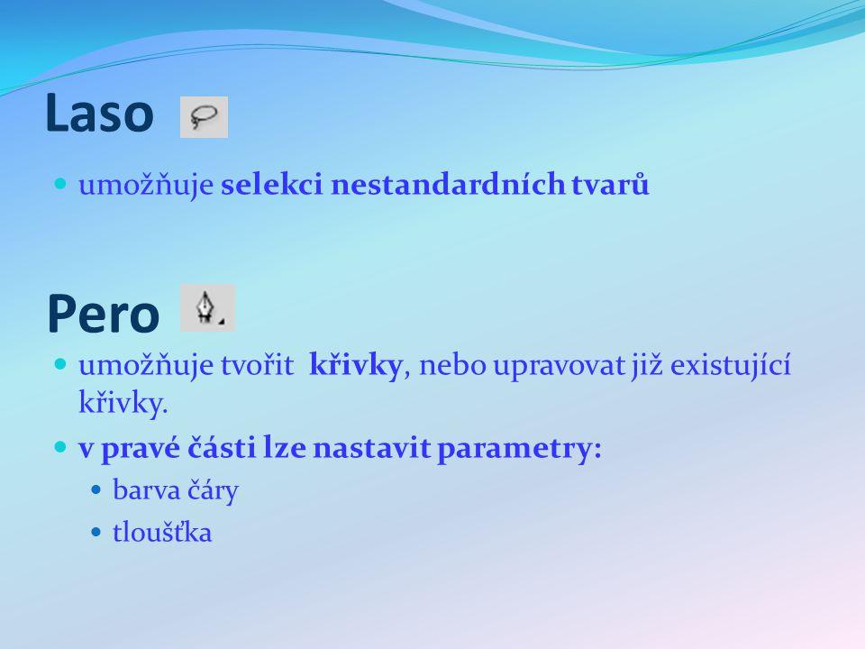 Text nástroj na přidání textu v pravé části lze nastavovat parametry: font, velikost Barva horní nebo dolní index a další.