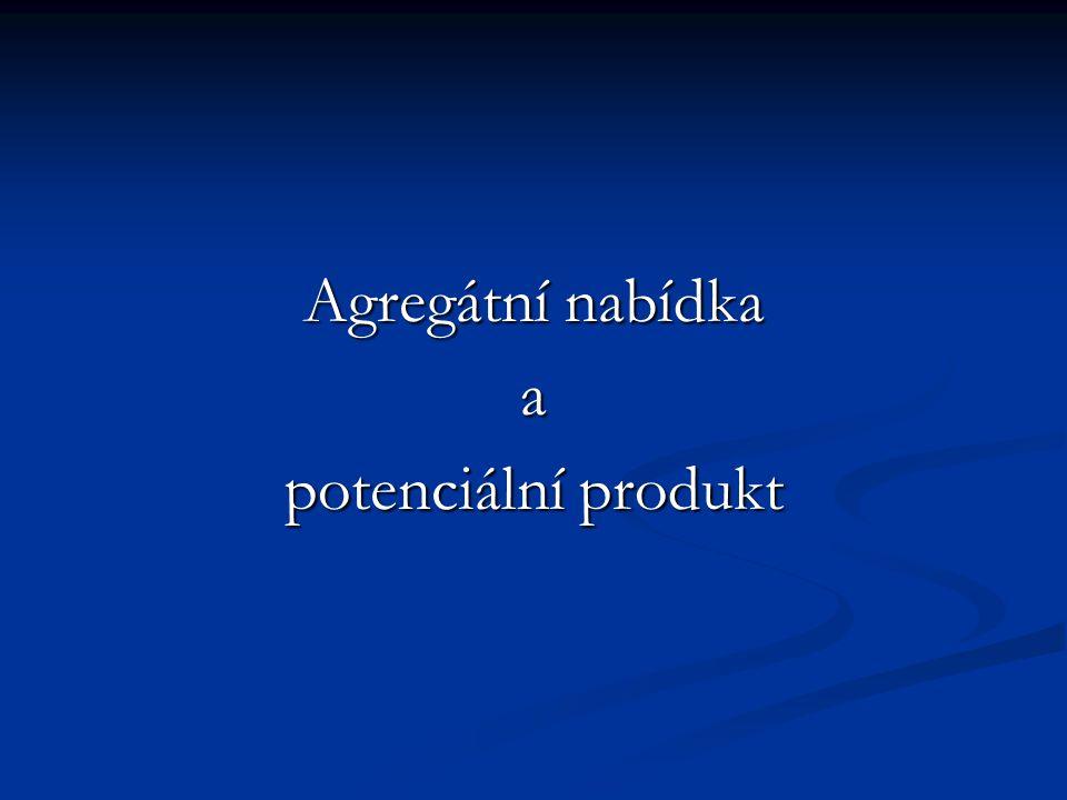 Agregátní nabídka a potenciální produkt