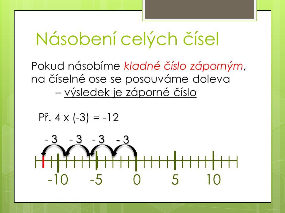 5 x 7 = 6 x (-3) = 4 x (-5) = (-6) x 8 = 4 x 7 = (-5) x 8 = 7 x (-9) = 6 x 6 = Příklady 9 x 8 = 3 x (-4) = (-8) x 8 = 7 x (-6) = 8 x 7 = 6 x (-5) = 9 x (-8) = (-5) x 4 =
