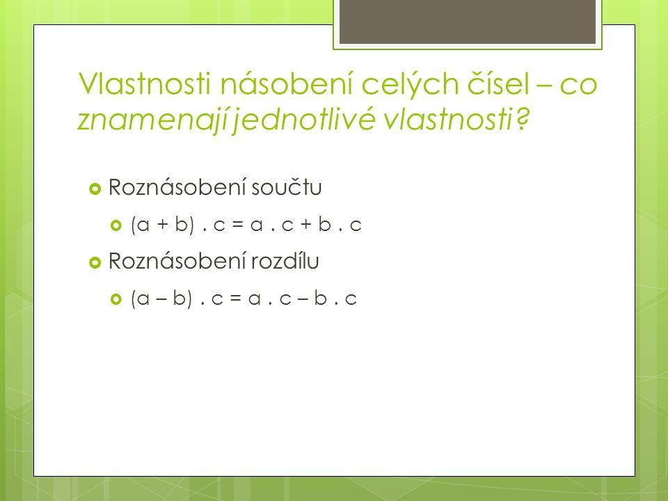 Příklady k pocvičení -20.(-2) = 28. (-3) = -23. (-4) = 13.